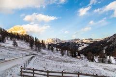 Italian Dolomiti ready for ski season Royalty Free Stock Photography