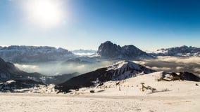 Italian Dolomiti ready for ski season Stock Photo