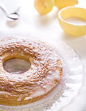 Italian Donut. Donut, homemade cake covered in icing Royalty Free Stock Photo