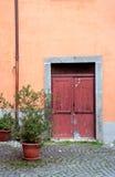 Italian door. Back door in Toscany, Italy Royalty Free Stock Images