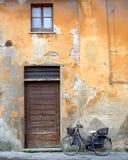 Italian door. In pietrasanta city tuscany Stock Photo