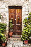 Italian door Royalty Free Stock Photo