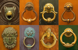 Italian doorknockers Royalty Free Stock Photos
