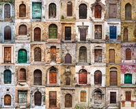 Italian doors Royalty Free Stock Images