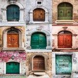 Italian doors Stock Photography
