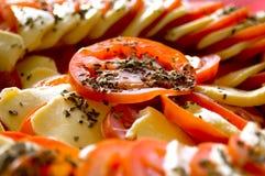 Italian dream. Tomato and mozarella salad Royalty Free Stock Photo