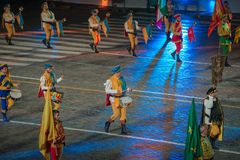 Italian drummers Royalty Free Stock Photo