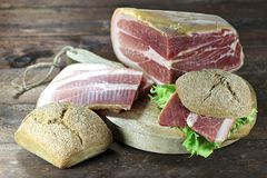 Italian dry-cured ham Royalty Free Stock Images