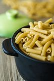 Italian Dry Pasta in Bow Stock Images