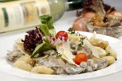 Italian dumplings carbonara Stock Image