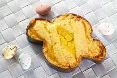 Italian easter cake shaped dove Stock Image