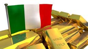 Italian economy concept with gold bullion Stock Photos