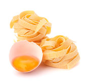Italian egg pasta fettuccine nest Royalty Free Stock Photos