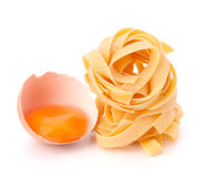 Italian egg pasta fettuccine nest Royalty Free Stock Photo