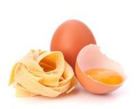 Italian egg pasta fettuccine nest Stock Photo