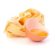 Italian egg pasta fettuccine nest Stock Photography