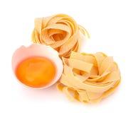 Italian egg pasta fettuccine nest Stock Images