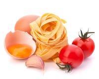 Italian egg pasta fettuccine nest Royalty Free Stock Image