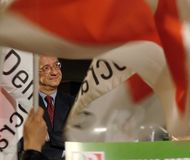 Italian elections: Veltroni, P Stock Photo