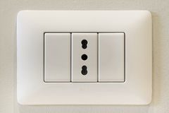 Italian electric socket Stock Photography