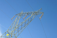 Italian electricity pylon medium voltage Stock Photo