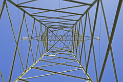 Italian electricity pylon medium voltage Stock Image