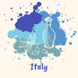 Italian Emotive Motive with Culinary Attractions Royalty Free Stock Image