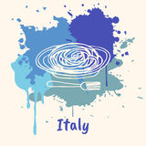Italian Emotive Motive with Culinary Attractions Royalty Free Stock Photo
