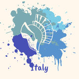 Italian Emotive Motive with Historical Attractions Stock Images