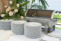 Italian empty catering food warmer Royalty Free Stock Images