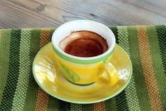 Italian espresso. Italian cup of black coffee Stock Photography