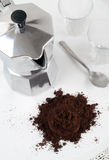Italian Espresso Coffe Pot Royalty Free Stock Image