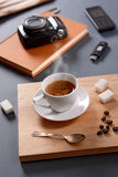 Italian espresso coffee in the cup Stock Photography