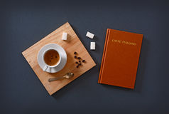 Italian espresso coffee in the cup Royalty Free Stock Images