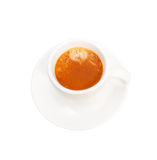 Italian espresso coffee cup isolated on white Stock Images