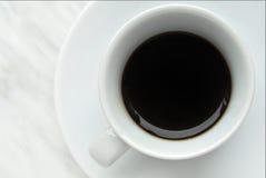 Italian espresso. Coffee on marble background Royalty Free Stock Photo