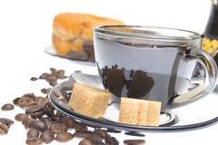 Italian espresso donut, brown sugar and coffee Stock Photography