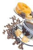 Italian espresso donut, brown sugar and coffee Royalty Free Stock Image