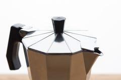 Italian espresso machine over white Stock Photo