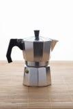 Italian espresso machine over white Stock Images