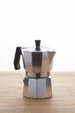 Italian espresso machine over white Stock Photos