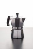 Italian espresso machine over white Royalty Free Stock Photos