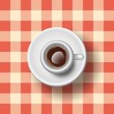 Italian Espresso. Semi-Realistic Vector Illustration Of an Italian Espresso Stock Photos