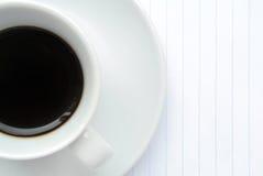 Italian espresso. In a white cup Stock Photography