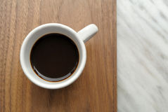 Italian espresso. On a wooden top Stock Photography