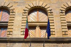 Italian And EU Flags Royalty Free Stock Photos