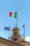 Italian and EU Flags Royalty Free Stock Image