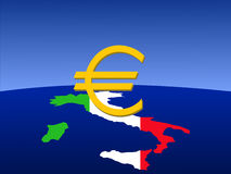 Italian euro sign Royalty Free Stock Images