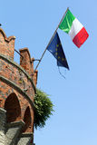 Italian and european flag Royalty Free Stock Photos
