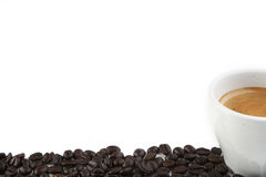 Italian Expresso With Beans Stock Images